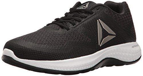Reebok Women's Astroride Duo Running Shoe, Black/Coal/Pewter/White, 7.5 M US