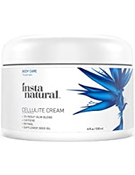 InstaNatural Cellulite Cream - With Caffeine & Retinol - Body Firming Solution & Tightening Lotion for Thigh Area, Buttocks & More - No Wrap Needed - Anti Cellulite Control Treatment - 4 OZ