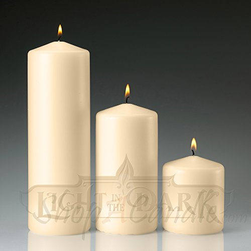Set of 3 Ivory Pillar Candles 3x3 3x6 3x - Ivory Outdoor Pillar Candles Shopping Results