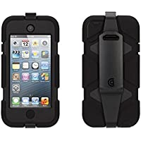 Griffin Black/ Black Heavy Duty Survivor Case with belt clip for iPod touch (5th/ 6th gen.) - Extreme-duty case