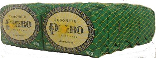 Linha Tradicional Phebo - Sabonete em Barra de Glicerina Amazonian (12 x 90 Gr) - (Phebo Classic Collection - Glycerin Bar Soap Amazonian Soap (12 x 3.2 Net Oz))