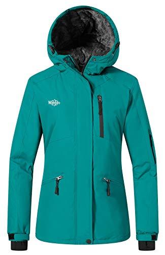 Wantdo Women's Mountain Raincoat Ski Jacket Hooded Parka Winter Coat Waterproof