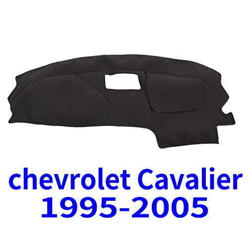 JIAKANUO Auto Car Dashboard Carpet Dash Board Cover Mat Fit for Chevy Chevrolet Cavalier 1995-2005 (Black) ()