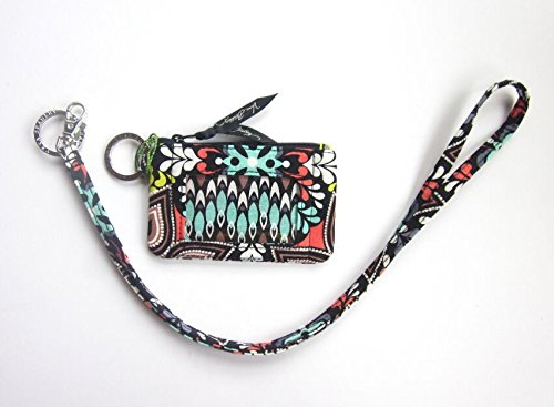 Vera Bradley Zip ID Case and Lanyard in Sierra