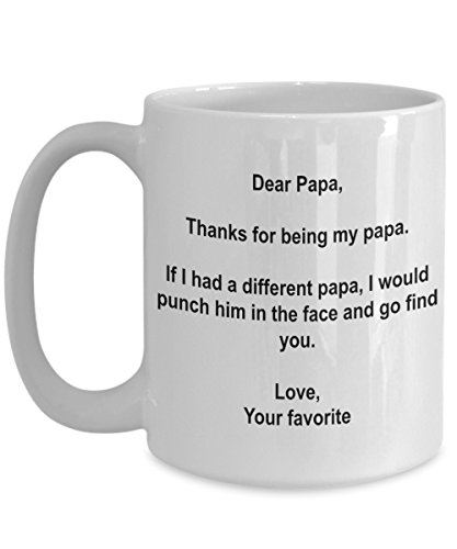 Funny Father's Day Papa Gifts - I'd Punch Another Papa In The Face Coffee Mug - 15 oz Ceramic Mug (Wine Gift Baskets Missouri)