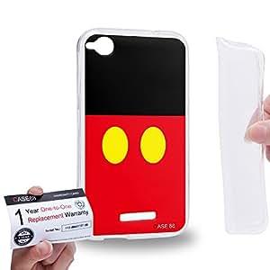 Case88 [HTC Desire 320] Gel TPU Carcasa/Funda & Tarjeta de garantía - Art Fashion Micky Art1514