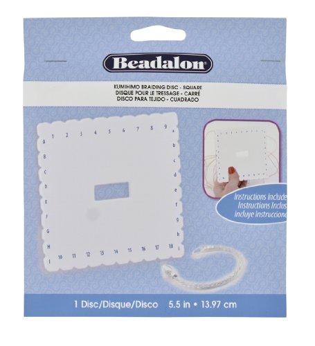 Beadalon Kumihimo Disk, Square, 5-1/2-Inch