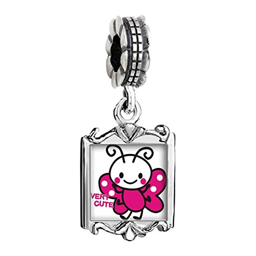 Bee Charms Baby (Silver Plated Very Cute Honeybee Photo Family Mom & Baby Girl & Dad Dangle Bead Charm Bracelet)
