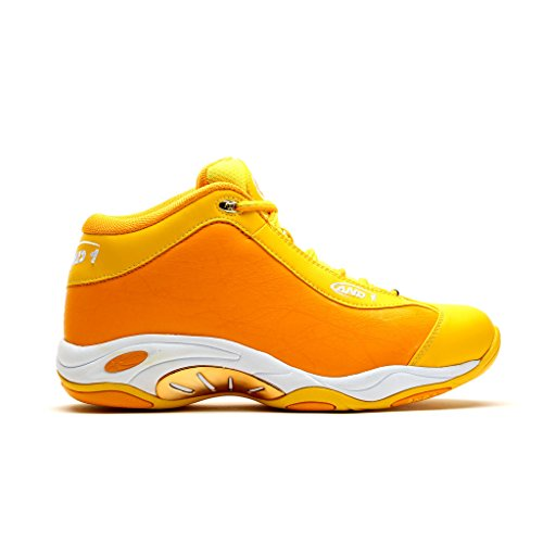 AND1 Mens Tai Chi Basketball Shoe 9.5 Yellow