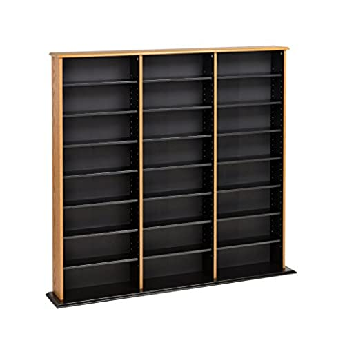 Merveilleux Prepac Triple Width Wall Storage Cabinet, Oak And Black