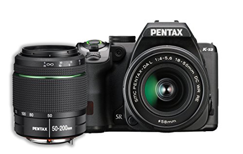 (Pentax K-S2 20MP DSLR Two Lens Kit w/ 18-50mm WR & 50-200mm WR (Black))