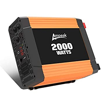 Image of Ampeak Power Inverter 2000W Continuous Power DC 12V to AC 110V with 3 AC Outlets and 2.1A USB Port Car Converter Power Inverters