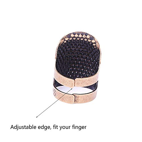 AXEN 4 Pieces Sewing Thimble, Metal Copper Sewing Thimble Finger Protector, Accessories DIY Sewing Tool, Two Size 4 Pieces