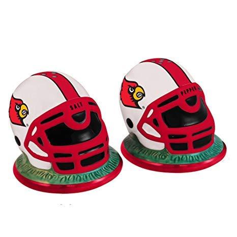 - NCAA Louisville Helmet Salt and Pepper Shakers