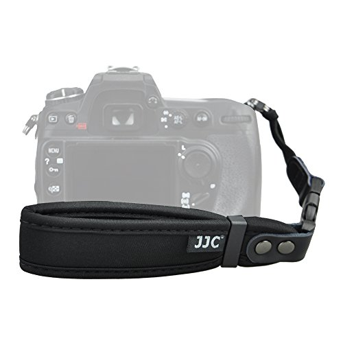 Camera Wrist Strap JJC Hand Wrist Strap for Canon T7 T6 T5 T3 XS T7i T6i T6s SL2 7D 6D 5D 80D 77D Nikon D3400 D3300 D7500 D7200 D850 D810A D5 Sony A99 High-grade ABS Quick Release Buckle-Black 1Pack