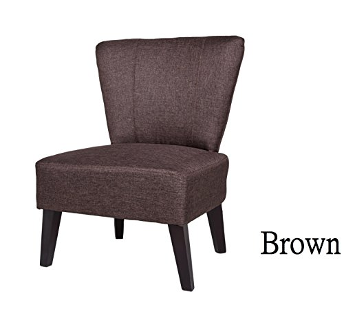 Container Furniture Direct Alice Collection Contemporary Fabric Upholstered Living Room Accent Chair, Brown