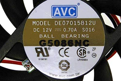 AVC Technology AVC 12v DC 0.7a 70x15mm 3-Wire Fan DA07015B12U-FAR Ball Bearing Fan