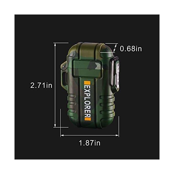 SANShine - Mechero electrónico de Doble Arco con batería de Plasma Recargable, Resistente al Viento, Impermeable y… 6
