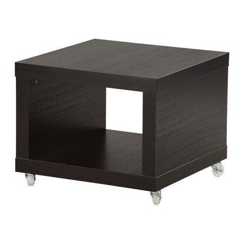 Ikea Lack Coffee/Side Table Multi Use On Casters Black-brown