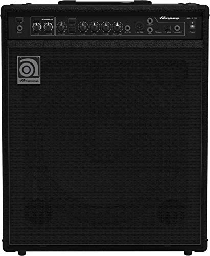 150w Bass Amplifier - Ampeg Bass Combo Amplifier, Black, 150-watts (BA-115v2)