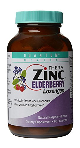 Thera Zinc Lozenges, Elderberry, 60 Count