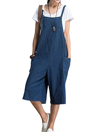 Stile Salopette 1 blu Mallimoda Strappy Baggy Ragazza Donna Jumpsuit B5xW0qP0Yw