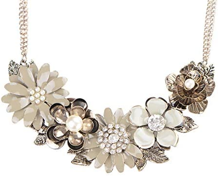 Alilang Womens Rhinestones Statement Necklace