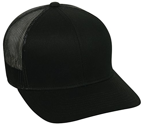 Outdoor Cap Structured mesh Back Trucker Cap, Black, One ()