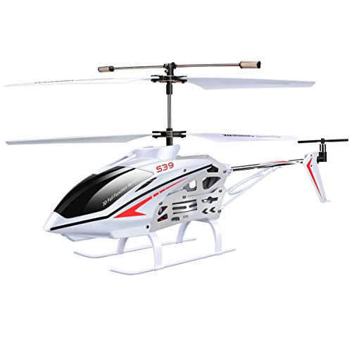 Original Syma S39 RC Helicopter with GYRO Toy Remote Control Helicopters 2.4G 3CH-White