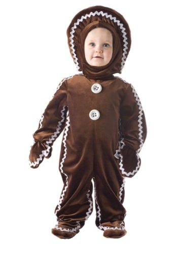 Baby and Kids Gingerbread Costume - Large 2T-4T