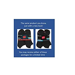 Hanes Men's 12-Pack FreshIQ Odor Control Protection and X-Temp Cool and Dry No Show Socks
