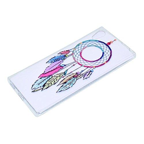 Funda Sony Xperia XA1, Carcasa Sony Xperia XA1, Elegante Alta Calidad TPU Suave Silicón Gel de Alta Resistencia y Flexibilidad Anti-arañazos y Antideslizante Choque-Absorción Protectora Suave Caso Car Campana de Viento