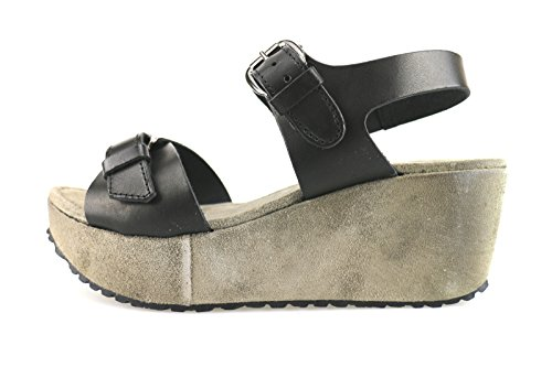 CAFE' NOIR sandalen Damen Schwarz Leder AG283