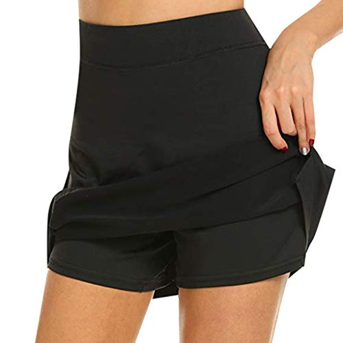 TIFENNY Fitness Running Skirts for Women Active Skorts Performance Skirt Yoga Tennis Golf Workout Sports Black]()
