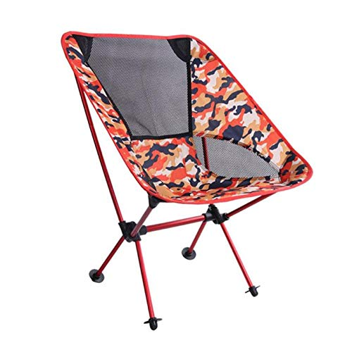 HFFYIOAG Portable Folding Chair Beach Seat Lightweight Seat 600D Oxford Fabric for Outdoor Fishing Barbecue Picnic Camping Travelling as Show ()