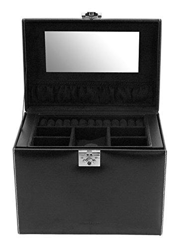 Friedrich|23 Damen-Schmuckkasten London Leder schwarz - 26103-2 -