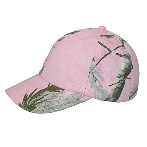 CTM Women's Kati Treestand Pink Camo Baseball Hat