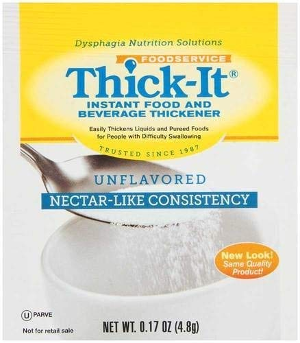 Thick It Instant Food and Beverage Thickener, 0.17 Ounce -- 200 per - Thickener Nectar