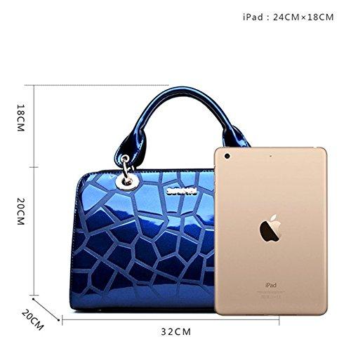 mûr Mode mère peinte simple à ère en en skinny Mme cuir sacs SANSJI Bleu main d'âge cuir fourre tout cuir bandoulière en nouvelle sac SqwEdZC