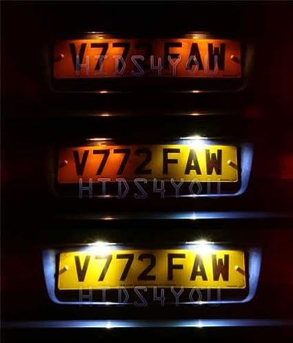c2x LED Car Number Plate Bulbs Ford MAVERICK FIESTA MK6 2x36mm Festoons