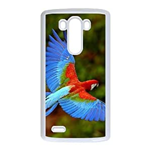 LIULAOSHI Parrot Phone Case for LG G3 White [Pattern-1] by runtopwell