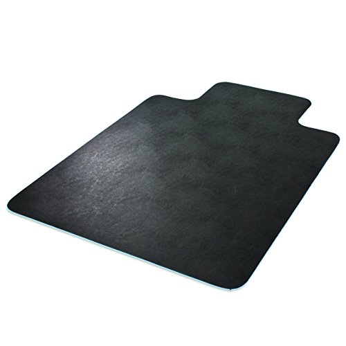 Deflecto EconoMat Chair Mat, Non-Studded for Hard Floors, Straight Edge, 45