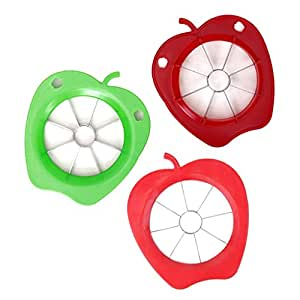 Great Chance Stainless Steel Apple Shaped Fruit Cutting Slicer Peeler Cutter Corer Random Color