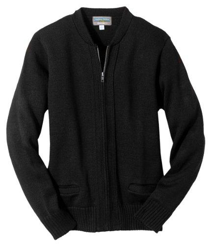 Edwards Drawstring Sweatshirt - Edwards Garment Machine Washable Cardigan Sweater_BLACK_XXXX-Large