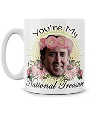 You're My National Treasure Nic Cage rolig present meme rolig nörd keramik 325 ml tekopp Best One True God Reddit