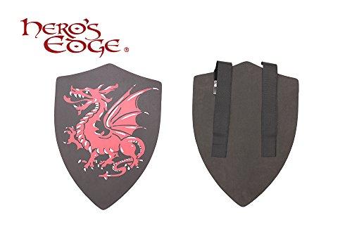 SwordMaster - Thick Foam Medieval Crusader Dragon Foam Shield for Cosplay and Larp Brand New (Medieval Foam Larp Shield)