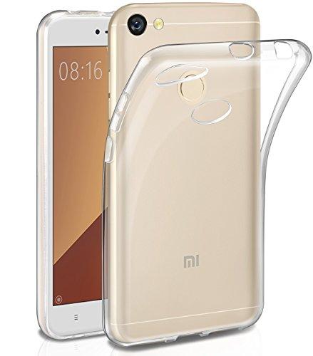 Funda Xiaomi Redmi Note 5A,Leathlux Trasparente Suave TPU Carcasa Protector Bumper Tapa Claro Flexible Silicona Gel Ultra...