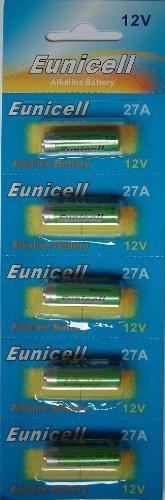 Eunicell 5 x 27A 12v Alkaline Batteries