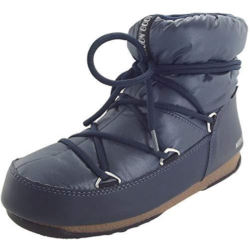 D'hiver Boot Moon Bottines Wp Femme Low Blue Nylon Denim qTTXa