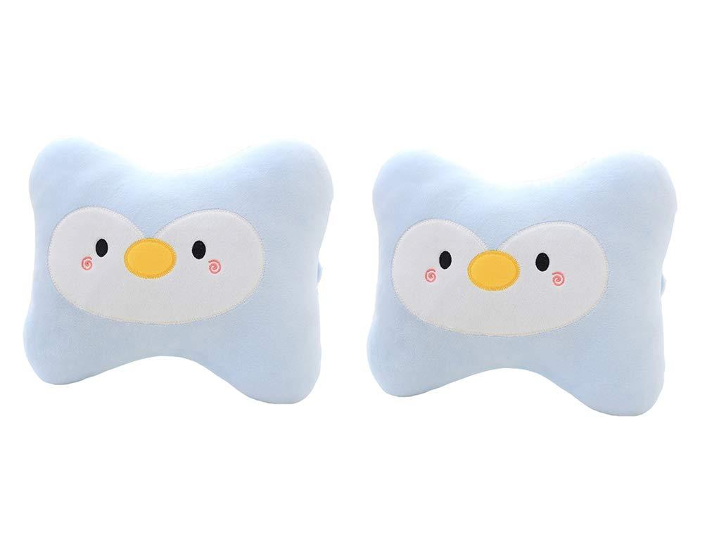 Cute Penguin Car Neck Pillows Car Headrest Cushions 2PCS
